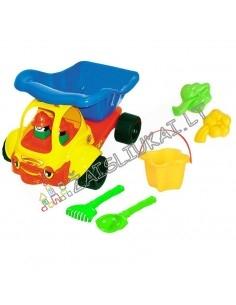 Mašina su smėlio žaislais