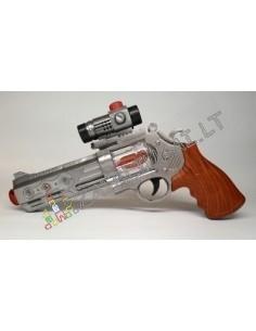 Vaikiškas revolveris su garsu ir šviesa