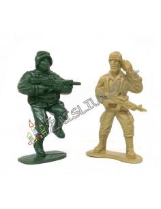 Plastikinių kareivėlių rinkinys 40 vnt.
