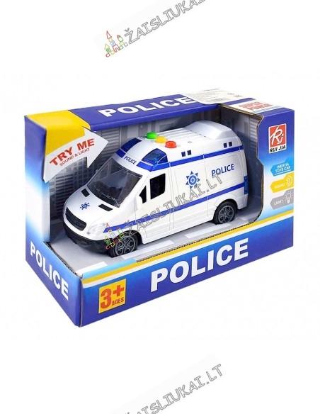 Policijos mikroautobusas su garsais ir šviesa