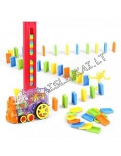 Muzikinis traukinys su domino