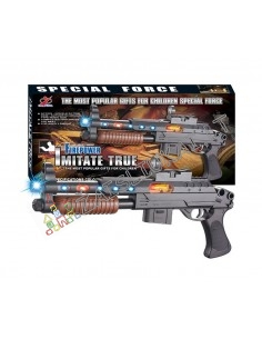 Žaislinis ginklas Sutrumpintas vinčesteris su garsu ir šviesos efektais