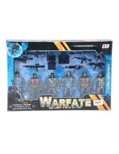 Plastikiniai kareivėliai su ginklais