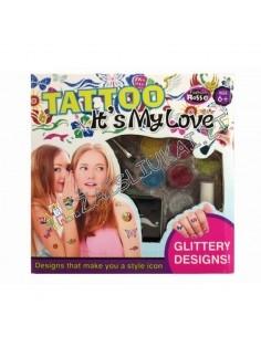 Vaikiškos tatuiruotė su blizgučiais