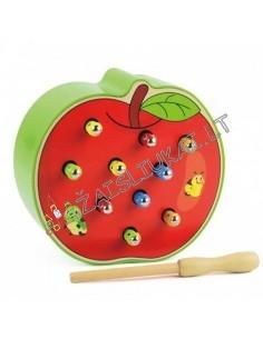 Magnetinė žvejyba kirminų iš obuolio