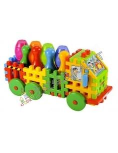 Vaflinės kaladėlės - Sunkvežimis su kėgliais