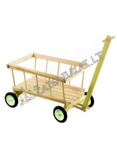 Vaikiškas medinis vežimas - karutis