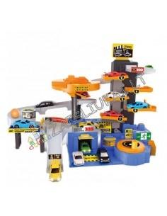 Žaislinė stovėjimo aikštelė su 6 mašinom