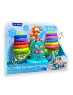 Žaislas mažyliams - Piramide-svarstyklės