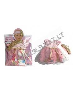 Drabužėliai lėlėms - suknelė su karūna - Baby Born dydžio