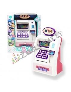 Vaikiškas bankomatas, seifas-taupykle 2 in 1