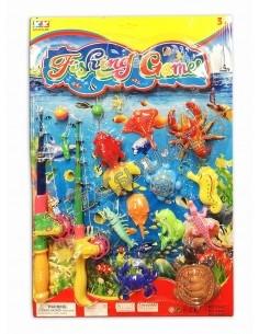 """Žaidimas """"Žvejyba"""" su 2 meškerėm ir 10 magnetinėmis žuvelėmis"""
