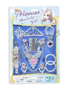 """Papuošalų rinkinys su karūna ir burtų lazdelė """"Princesės rinkinys"""""""