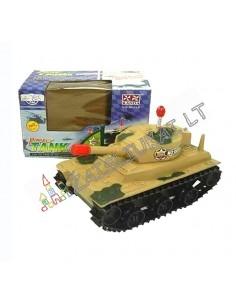Karinė technika vaikams - žaislinis tankas su garsais