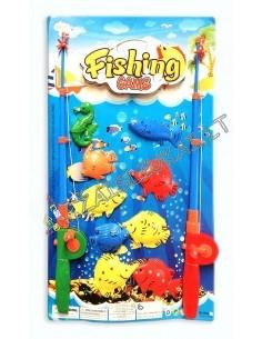 """Žaidimas """"Žvejyba"""" su 2 meškerėm ir 9 magnetinėmis žuvelėmis"""