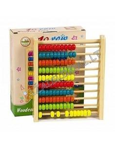 Medinės spalvotos skaičiuoklės 100 karoliukų