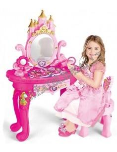 Žaislinis kosmetinis staliukas su veidrodžiu