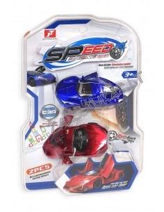 """Šiuolaikiškas greitas automobilis modeliukas 2 vnt """"Speed Racing"""""""