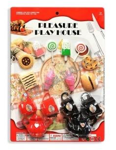 Žaislinis indų rinkinys - Arbatos servisas su saldumynais