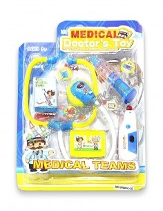 Vaikiški medicininiai žaislai, daktaro rinkinys su šviesa