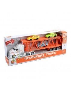 Žaislinis tralas su 3 mašinom