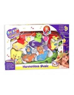 Žaislai kūdikiams - Lovytės karuselė gyvūnai su mašinom