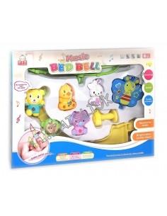 Žaislai kūdikiams - Lovytės karuselė gyvūnai su drugeliu