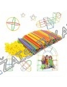 Erdvinis 3D konstruktorius šiaudeliai Straws and Connectors 300 vnt