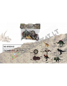 Dinozaurų Figūrėlių Rinkinys su lizdu - Jurassic Park