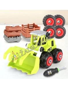 """Ūkininko technikos surenkamas komplektas """"Diy Tractor Puzzle Toys"""""""