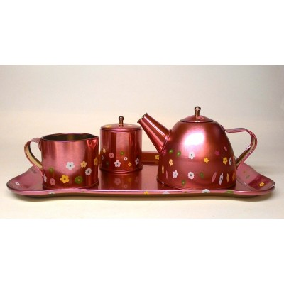 Žaislinis metalinių indų rinkinys - Arbatos servisas