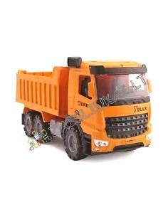 """Statybinis sunkvežimis - oranžinis savivartis """"WORK"""""""