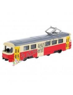 """Modeliukas - metalinis tramvajus 1:90 """"Miesto transportas"""""""