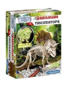 Senovės paslaptys Clementoni Archeologija Triceratops šviečia tamsoje