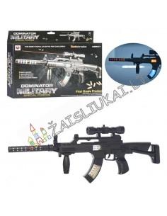 Žaislinis ginklas su lazeriu ir šviesa