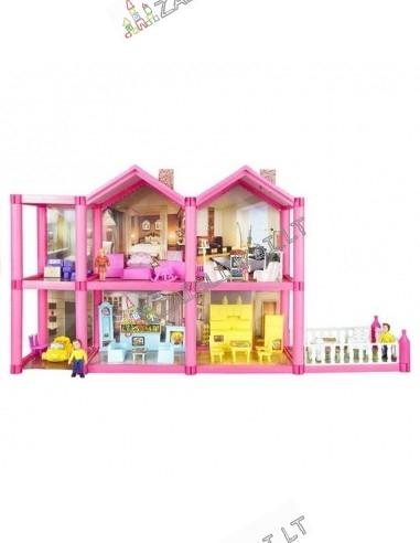 Lėlių namas su baldais, 136 dalių, tinka LOL lėlėms