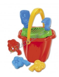 Mažas smėlio žaislų rinkinys su kibirėliu