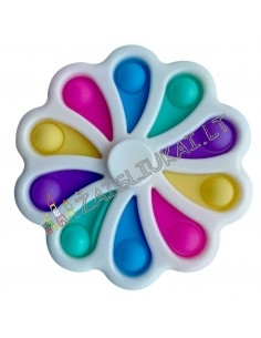 10 dalių spinners, Pop It ir Simple Dimple 2 in 1