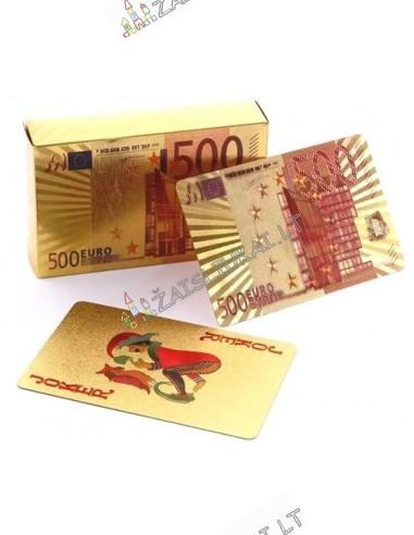Карты игральные пластиковые золотые 500 евро