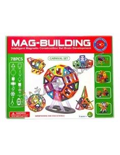 """Magnetinis konstruktorius 78 detalių """"Mag-Building"""""""