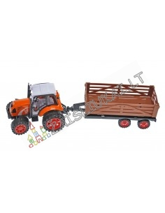 Žaislinis traktorius su priekaba