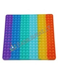 Pop IT vaivorykštinis - Didelis 30 x 30 cm Antistresinis žaislas