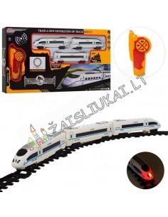 Greitasis traukinys su bėgiais - nuotolinis valdymas, garsas, šviesa