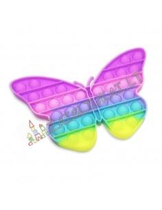 Pop IT švelnių spalvų drugelis - 20 cm,
