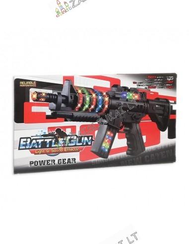 Vaikiškas ginklas - šviečiantis automatas