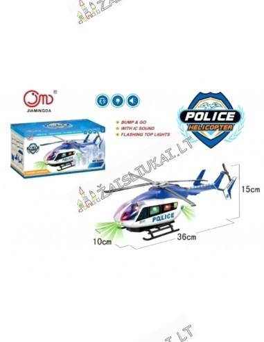 Policijos malūnsparnis - žaislas sraigtasparnis