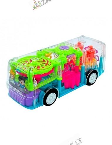 """Skaidrus autobusas su dantračiais """"Gear Light Bus"""""""
