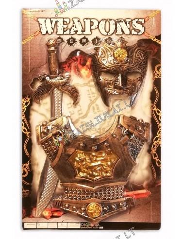 Viduramžio kario amunicija + kauke