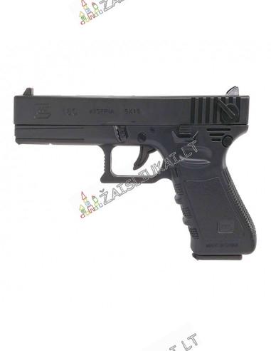 Garsinis žaislinis pistoletas - Tikro šautuvo Glock 18C kopija