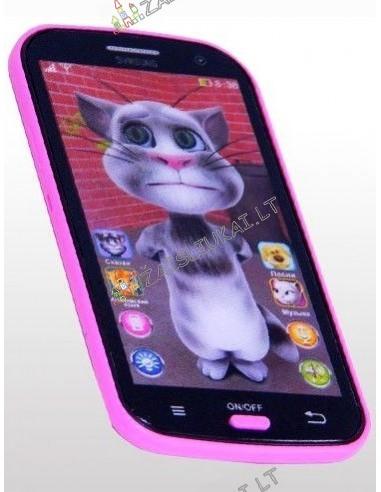 Žaislinis išmanusis telefonas su katinu Tomu